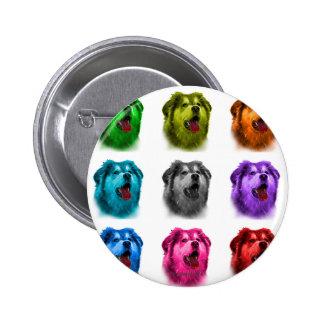 alaskan malamute dog art 6536 WB 2 Inch Round Button