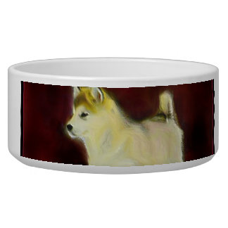 Alaskan malamute dog bowl