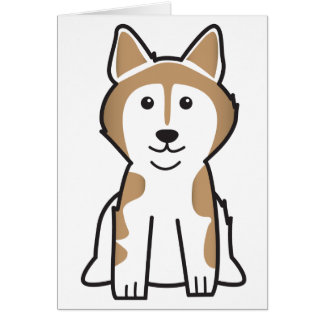 Alaskan Malamute Dog Breed Cartoon Greeting Card