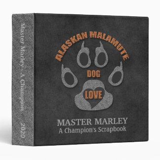 Alaskan Malamute Dog Breed Personalized Scrapbook 3 Ring Binder