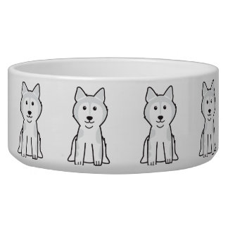 Alaskan Malamute Dog Cartoon Bowl