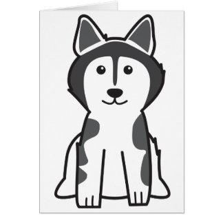 Alaskan Malamute Dog Cartoon Card