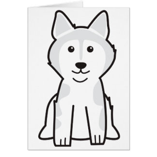 Alaskan Malamute Dog Cartoon Greeting Card
