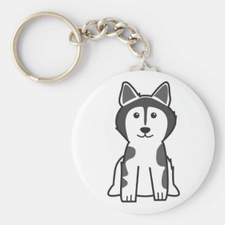 Alaskan Malamute Dog Cartoon Keychain