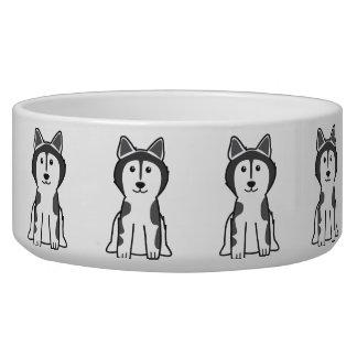 Alaskan Malamute Dog Cartoon Pet Water Bowl
