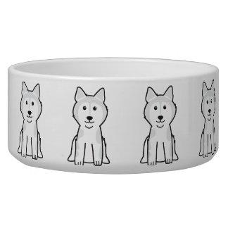 Alaskan Malamute Dog Cartoon Dog Water Bowls