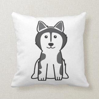 Alaskan Malamute Dog Cartoon Throw Pillow