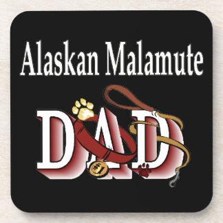 Alaskan Malamute Dog Dad Coaster