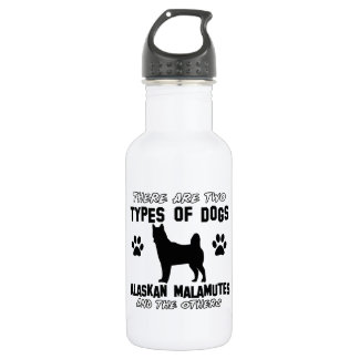 Alaskan Malamute dog designs 18oz Water Bottle