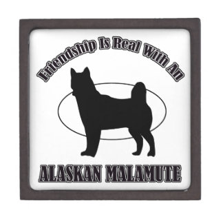 ALASKAN MALAMUTE DOG DESIGNS PREMIUM TRINKET BOXES