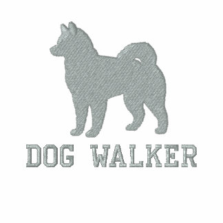 Alaskan Malamute Dog Silhouette with Custom Text Embroidered Shirt