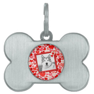 Alaskan Malamute Dog Valentines Heart Pet Tag