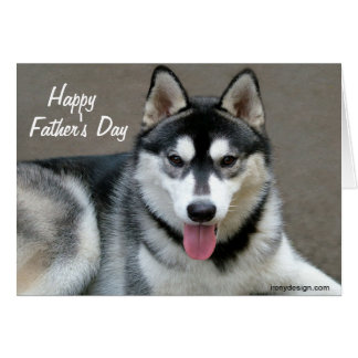 Alaskan Malamute Dogs Father's Day Card