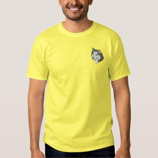 Alaskan Malamute Embroidered T-Shirt