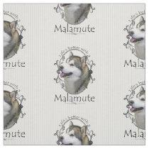 Alaskan Malamute Fabric