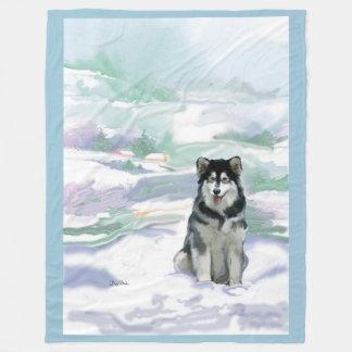 Alaskan Malamute Fleece blanket