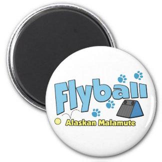 Alaskan Malamute Flyball 2 Inch Round Magnet