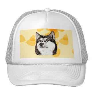 Alaskan Malamute Gold Leaves Trucker Hat
