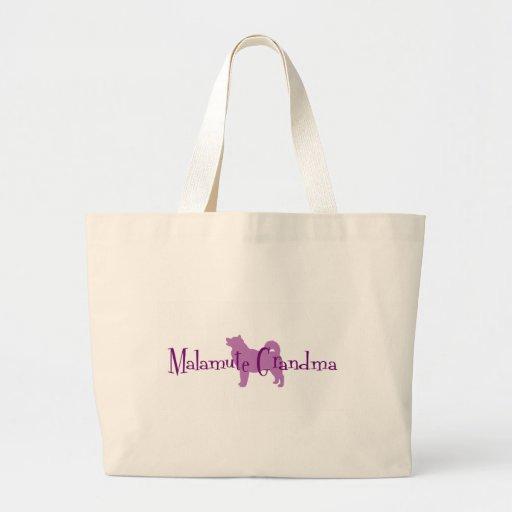 Alaskan Malamute Grandma Jumbo Tote Bag