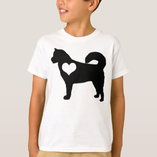 Alaskan Malamute Heart Kids T-Shirt