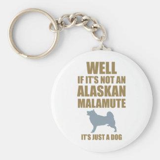Alaskan Malamute Keychain