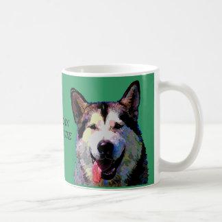 """Alaskan Malamute """"Kiska"""" Mug In Dazzling Colors"""