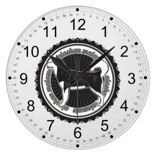 Alaskan Malamute Large Clock