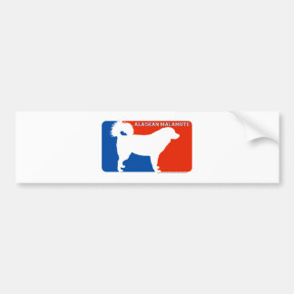 Alaskan Malamute Major League Dog Bumper Sticker Car Bumper Sticker