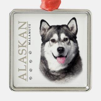 Alaskan Malamute Metal Ornament