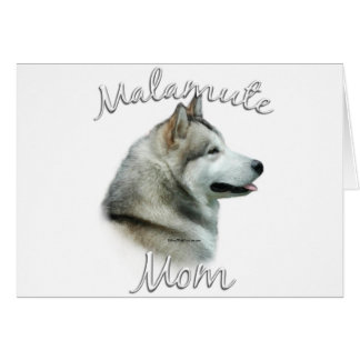 Alaskan Malamute Mom 2 Greeting Card