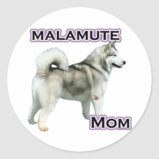 Alaskan Malamute Mom 4 - Sticker