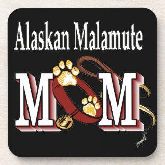 Alaskan Malamute Mom Gifts Beverage Coaster