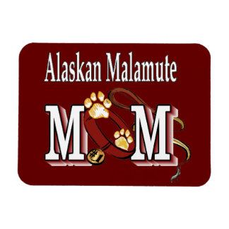 Alaskan Malamute Mom Gifts Rectangular Photo Magnet