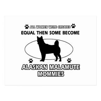 Alaskan Malamute mommy Postcard