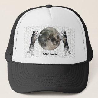 Alaskan Malamute Moon Trucker Hat