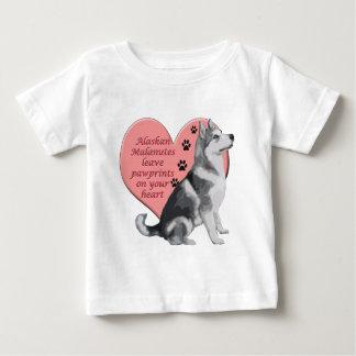 Alaskan Malamute Pawprints Baby T-Shirt