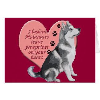 Alaskan Malamute Pawprints Card