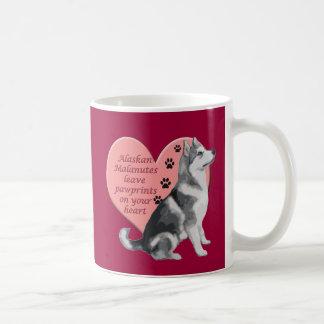 Alaskan Malamute Pawprints Coffee Mug