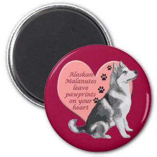 Alaskan Malamute Pawprints Magnet