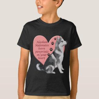 Alaskan Malamute Pawprints T-Shirt
