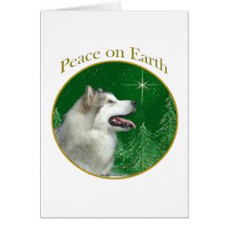 Alaskan Malamute Peace Card