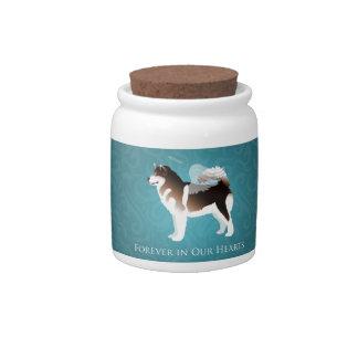Alaskan Malamute Pet Loss Design Candy Jars