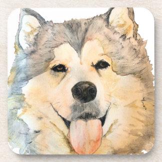 Alaskan Malamute Portrait Coaster