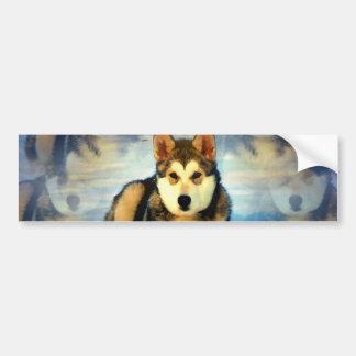 Alaskan Malamute Puppies Bumper Sticker