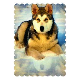 Alaskan Malamute Puppies Personalized Invites