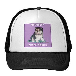 ALASKAN MALAMUTE PUPPY POWER TRUCKER HAT