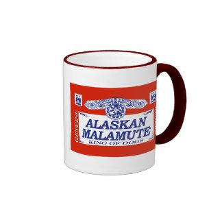 Alaskan Malamute Ringer Coffee Mug