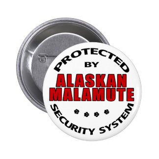 Alaskan Malamute Security Pinback Button