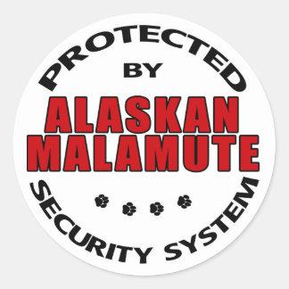 Alaskan Malamute Security Stickers