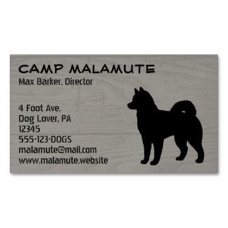 Alaskan Malamute Silhouette Business Card Magnet